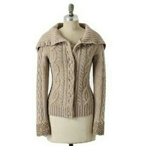 Anthro / SLEEPING ON SNOW Femme Fisherman Cardigan